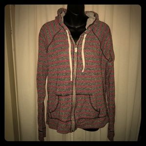 Nollie Pink and Grey Striped Hoodie Super Soft